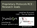 [Ruxcon Monthly Sydney 2011] Proprietary Protocols Reverse Engineering : Research leads