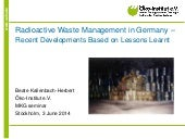 Radioactive Waste Management in Ger...