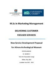 New Service Development Proposal fo...
