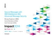 Secure Messages with IBM WebSphere ...