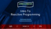 Intro to Reactive Programming