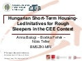 Short-Term Housing-Led Initiatives for Rough Sleepers in a Central-Eastern European Context