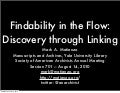 Findability in the Flow: Discovery through Linking