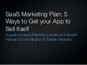 SaaS Marketing Plan: 5 Ways to Get your B2B App to Sell Itself