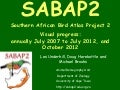 Sabap2 annual progress_2012-10-24