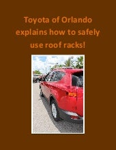 Safely use toyota roof racks