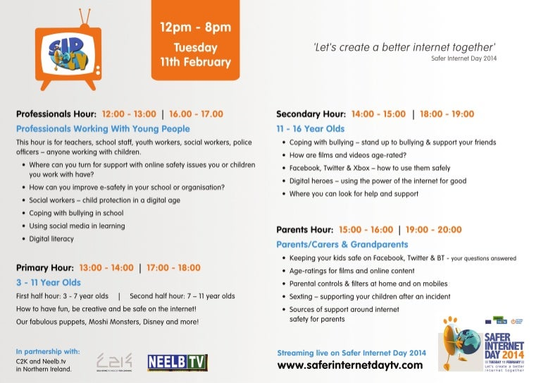 Safer Internet Day 2014 LiveStream Schedule #SID2014