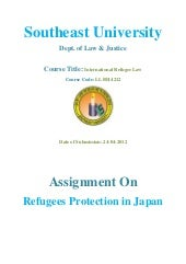 Assignment On Refugees Protection i...