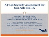 San Antonio Food Insecurity Assessment