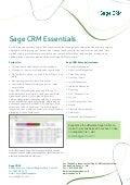 Sage CRM Essentials (Cloud)