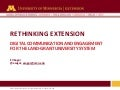 Rethinking Extension: Digital communication adn engagement for the Land Grant University system