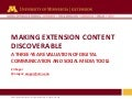 Making Extension Content Discoverable: A 3-year evaluation