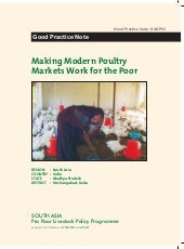 Making Modern Poultry Markets Work for the Poor - An example of Cooperative Development from Madhya Pradesh, India (SAGP03)