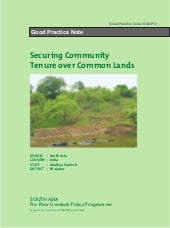 Securing Community Tenure over Common Lands (SAGP13)