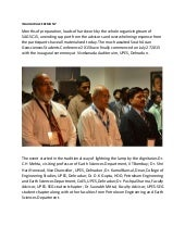UPES South Asian Geosciences Student's Conference : Inaugural Ceremony
