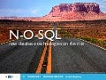 N-O-SQL, new database technologies on the rise