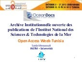 OceanDocs : L'archive institutionne...