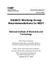 SAJACC Working Group Recommendation...