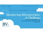 Software Architecture Conference -  Monitoring Microservices - A Challenge