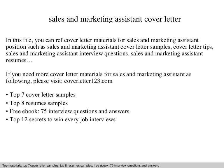 cover letter example for marketing assistant