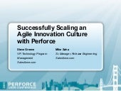 Agile Revolution at Salesforce.com: Successfully Scaling an Agile Innovation Culture with Perforce