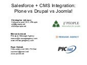 Open Source CMS + Salesforce Integr...