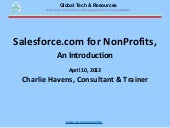 Salesforce.com for NonProfits, an I...
