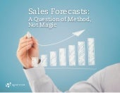Sales Forecasts: A Question of Meth...