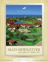 Sales Newsletter   January To April...