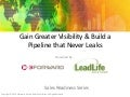Gain Greater Visibility and Build a Pipeline that Never Leaks