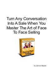 Face to Face Selling Skills - Sales...