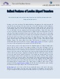 Salient Features of London Airport Transfers
