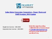 Saline Water Conversion Corporation – Power Plants, Trends and Analysis, 2013 Update