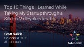 Top 10 Things I Learned While Taking My Startup through a Silicon Valley Accelerator