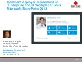 Enteprise Social Workplace : Microsoft SharePoint 2013