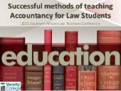 Saltsa.successful methods of teaching accountancy for law students