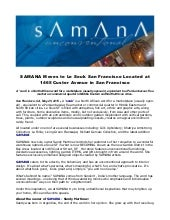 Samana moves to le souk san francisco