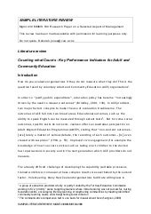 Writing a literature review introduction