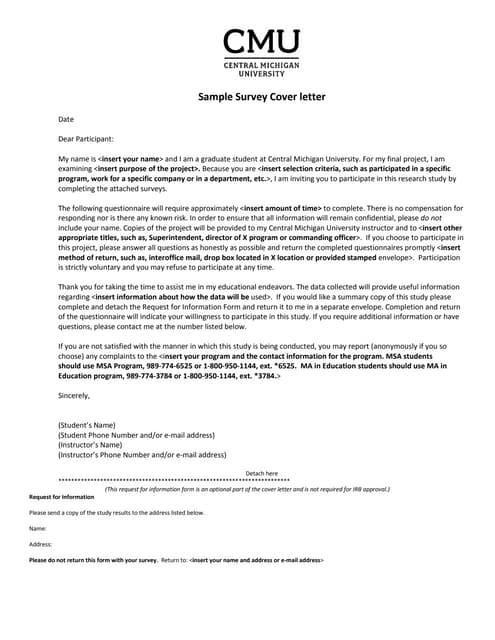 Sample survey-cover-letter