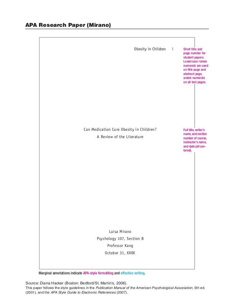 academic paper formatting