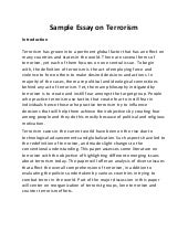 writing essay on terrorism