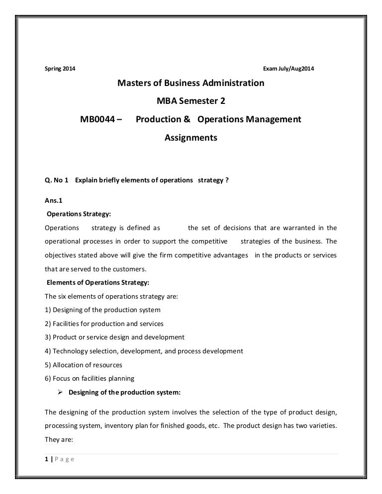How to write mba assignments