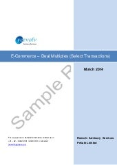 Sample report   e-com deal multiples (select transactions)