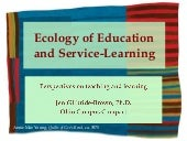 Ecology of Education and Service-Le...