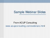 Sample Webinar Slides
