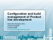 Configuration and Build Management ...