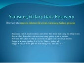 Samsung galaxy photo video recovery