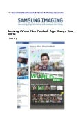 Samsung 2View's New Facebook App: Change Your World