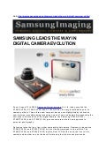 SAMSUNG LEADS THE WAY IN DIGITAL CAMERA EVOLUTION