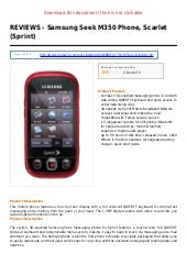 Samsung seek m350 phone scarlet sprint